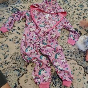 Hooded unicorn pajamas